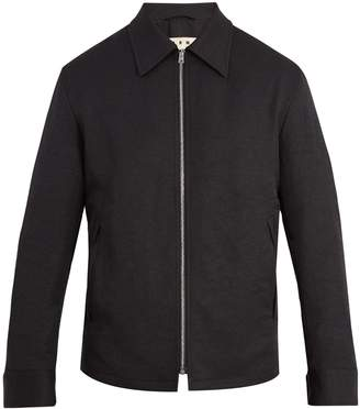 Marni Point-collar zip-through jacket