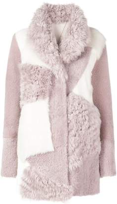 Drome textured patchwork coat