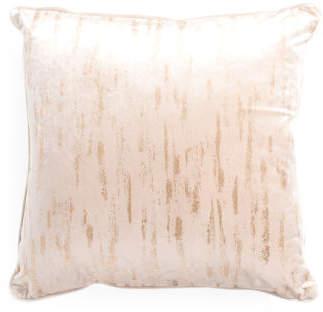 24x24 Oversized Velvet Embroidered Pillow
