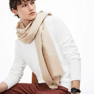 Lacoste Men's Cotton And Linen Voile Scarf