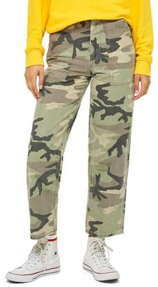 Topshop Sonny Camouflage Utility Trousers
