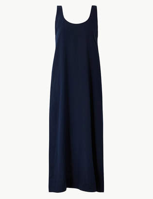 acf6c29c1db M S CollectionMarks and Spencer Linen Rich Shift Midi Dress