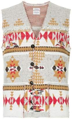 Coohem knit native jacquard vest