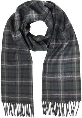 Lanvin Tartan Solid Wool Fringed Scarf