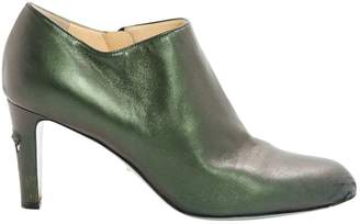 Sergio Rossi Green Leather Ankle boots