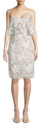 Badgley Mischka Floral Sheath Dress