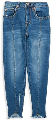 7 For All Mankind Girl's Frayed Ankle Jeans