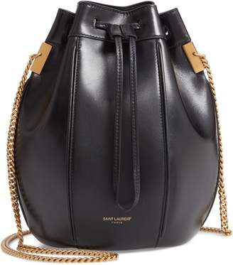 Saint Laurent Small Talitha Leather Bucket Bag