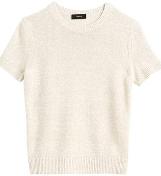 Theory Basic Linen & Cashmere Knit Tee