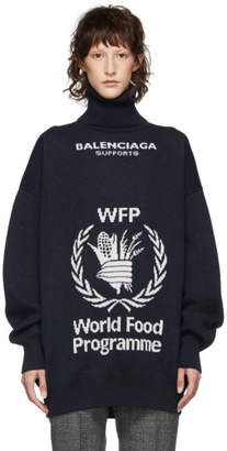 Balenciaga Navy World Food Programme Turtleneck