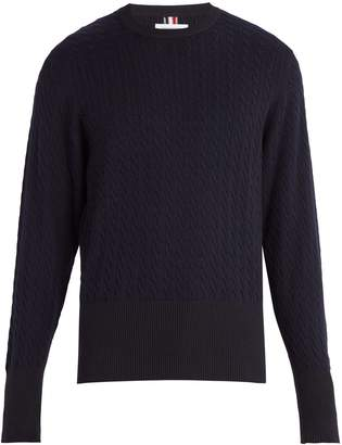 Thom Browne Crew-neck cable-knit sweater