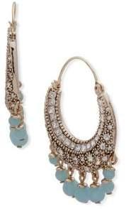Jenny Packham Faceted Crystal Shaky Hoop Earrings