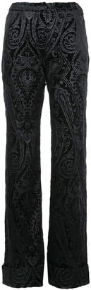 N. Duo jacquard flared trousers