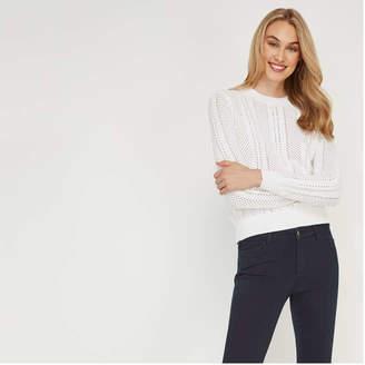 4e21eb8bd65 White Open Stitch Sweater - ShopStyle Canada