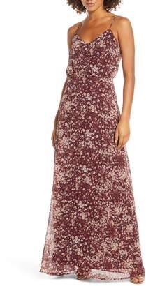WAYF The Savannah Floral Print Blouson Gown