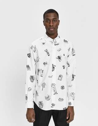 Polo Ralph Lauren Preppy Icons Printed Button Down Shirt