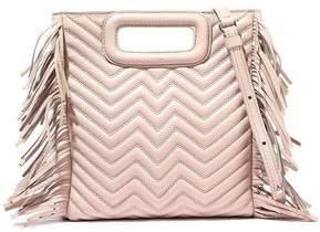 Maje M Fringed Quilted Leather Shoulder Bag