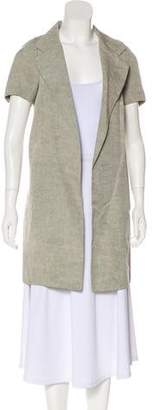 Marni Linen-Blend Knee-Length Cardigan