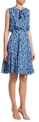 Carolina Herrera Sleeveless Silk Dress