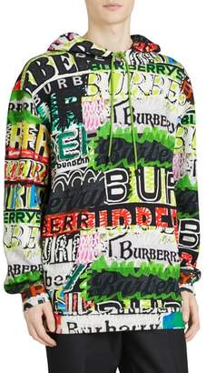 Burberry Harrington Graffiti Print Hoodie