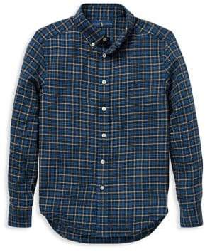 Ralph Lauren Childrenswear Boy's Plaid Cotton Twill Button-Down Shirt