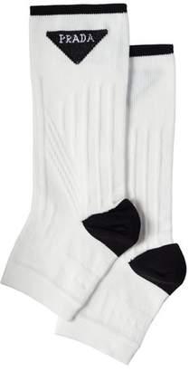 Prada Technical Nylon Toeless Socks