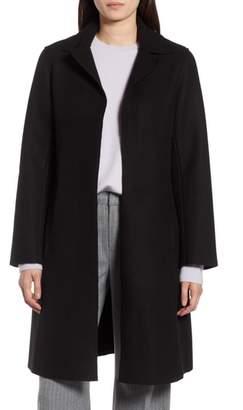 Halogen Raw Edge Wool-Blend Clutch Coat