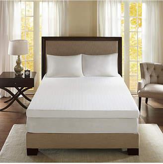 "Sleep Philosophy Flexapedic by Sleep Philosophy 3M Moisture-Management 4"" California King Memory Foam Mattress Topper"