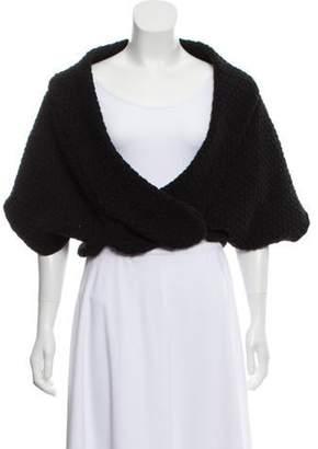 Alaà ̄a Wool Short Sleeve Bolero Black Alaà ̄a Wool Short Sleeve Bolero