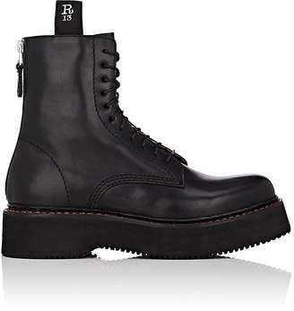 R 13 Women's Single Stacked Leather Combat Boots