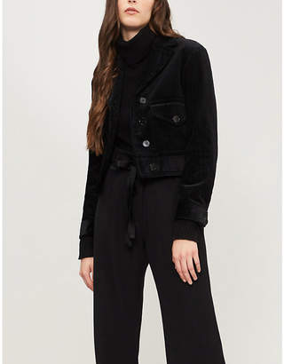 Sandro Notch-lapel corduroy jacket