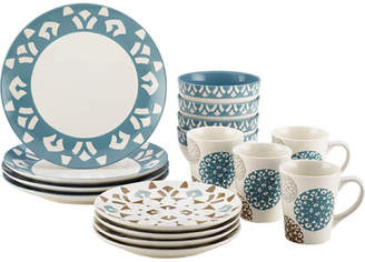 Rachael Ray 16-Piece Dinnerware Set in Print