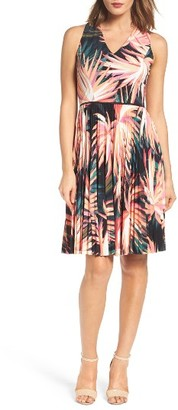Women's Maggy London Pleated Fit & Flare Dress $138 thestylecure.com