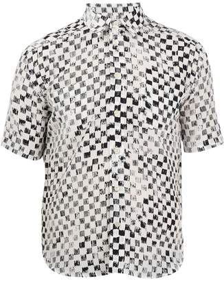 Saint Laurent Checked short-sleeved silk shirt