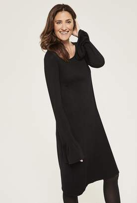 aadf823eff117 Long Tall Sally Fluted Sleeve Knitted Dress