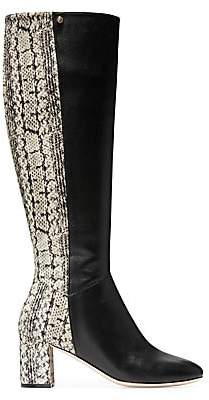 Cole Haan Women's Rianne Knee-High Python-Embossed Leather Boots