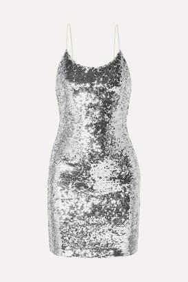 Alice + Olivia Alice Olivia - Giselle Sequined Tulle Mini Dress - Silver