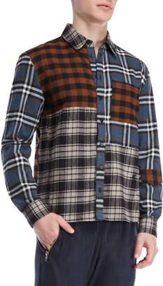 Religion Multi-Plaid Flannel Shirt