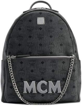 MCM logo plaque backpack