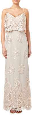 Adrianna Papell Embroidered Popover Dress, Almond