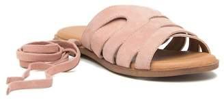 Crevo Juliette Suede Lace-Up Wrap Sandal