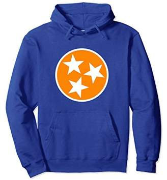 Orange White Tennessee Flag Hoodie TN Hooded Sweatshirt