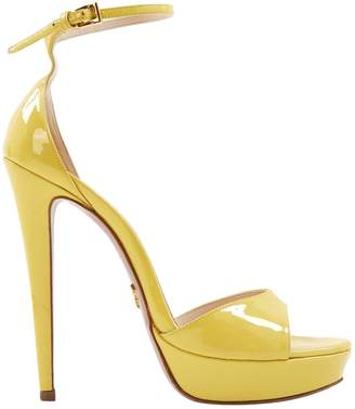 Prada Yellow Patent leather Sandals