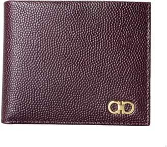 Salvatore Ferragamo Men's Deep 100% Pebbled Leather Bifold Wallet