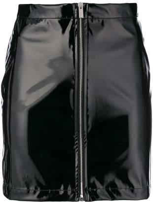 Wandering zip front mini skirt