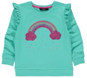 George Green Sequinned Rainbow Sweatshirt