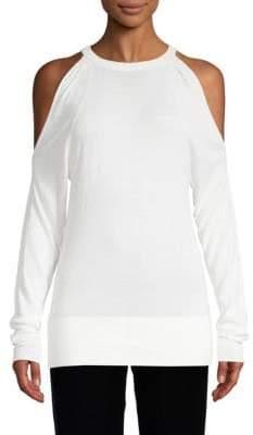 Brochu Walker Long-Sleeve Cold-Shoulder Sweater