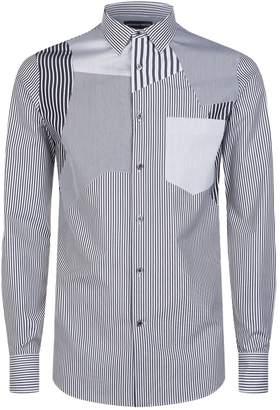Alexander McQueen Patchwork Stripe Shirt