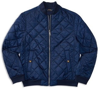 Ralph Lauren Childrenswear Boys' Diamond Quilted Baseball Jacket - Sizes S-XL $99.50 thestylecure.com
