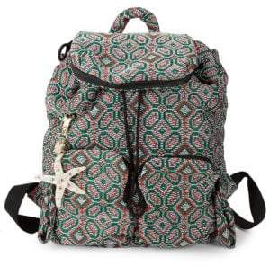 Joy Rider Woven Geometric Backpack